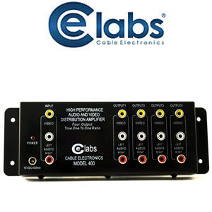 1x4 Composite A/V Distro Amplifier Wave Electronics