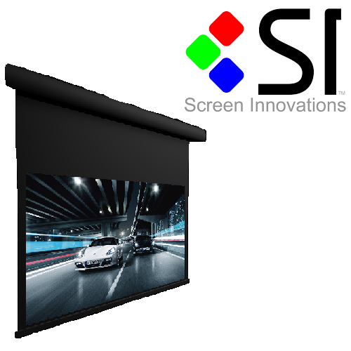 "120"" Wide Motorized Slate Wave Electronics"